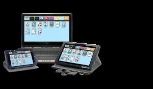 Exemplos de softwares de comunicação em diferentes equipamentos.